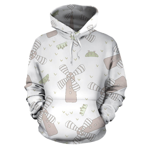 Windmill Pattern Background Men Women Pullover Hoodie