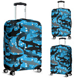 Shark Pattern Background Luggage Covers