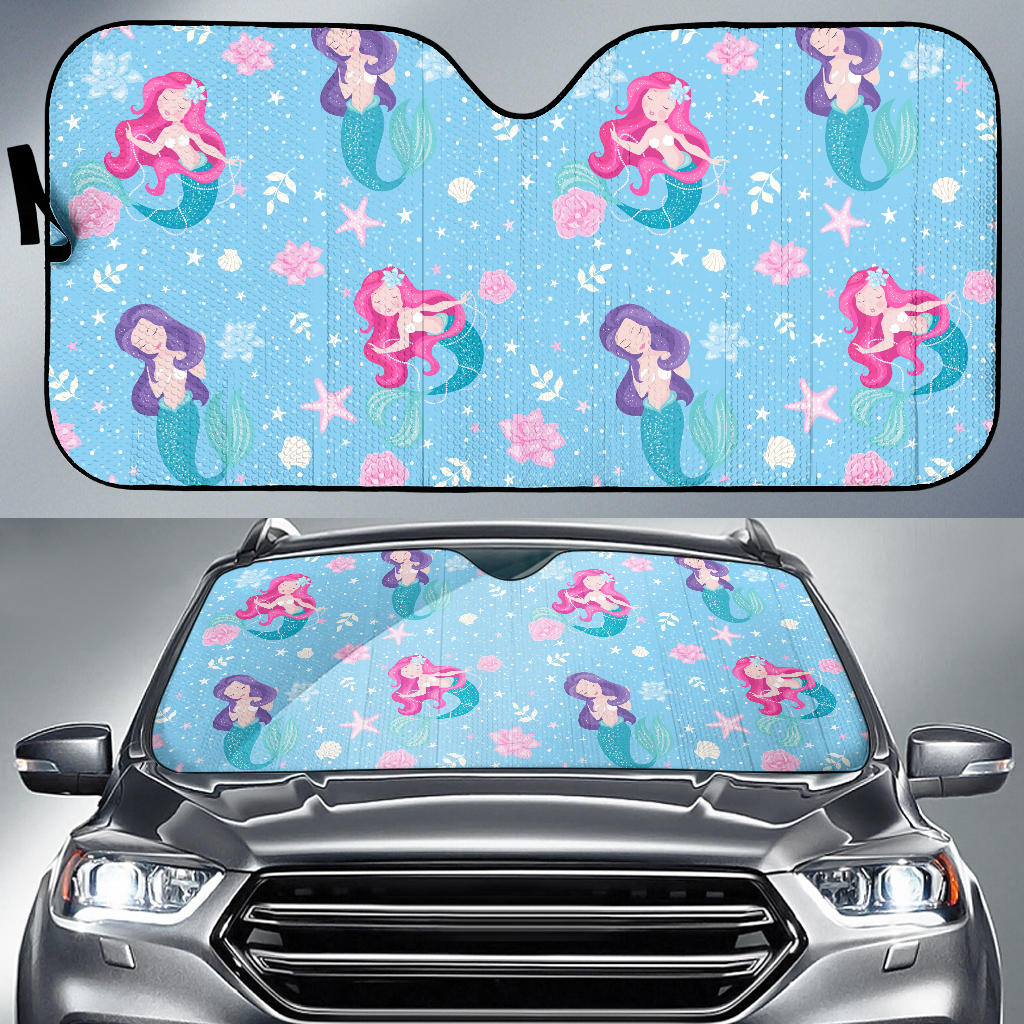 Cute Mermaid Pattern Car Sun Shade