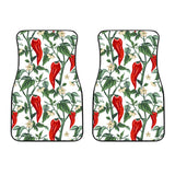 Chili Leaves Flower Pattern Front Car Mats