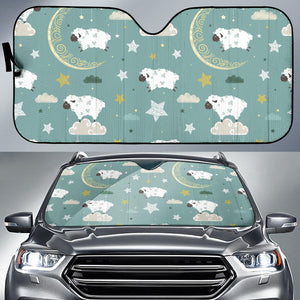 Sheep Sweet Dream Pattern Car Sun Shade