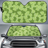 Lime Pattern Background Car Sun Shade