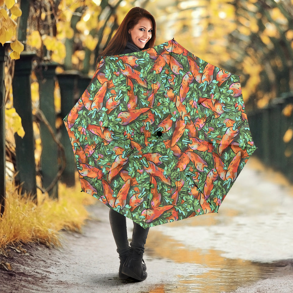 Carrot Pattern Print Design 04 Umbrella