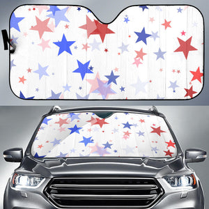 USA Star Pattern Car Sun Shade