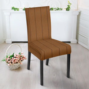 Wood Printed Pattern Print Design 03 Dining Chair Slipcover