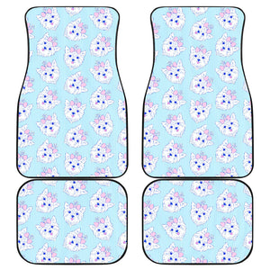 Yorkshire Terrier Pattern Print Design 01 Front and Back Car Mats
