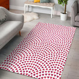 Heart Wave Pattern Area Rug
