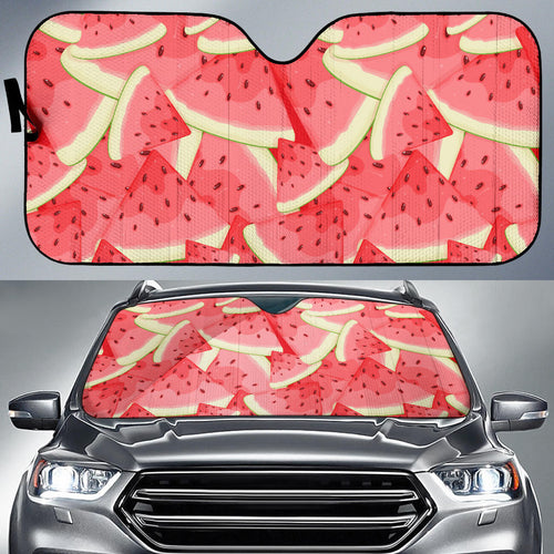 Watermelon Pattern Background Car Sun Shade