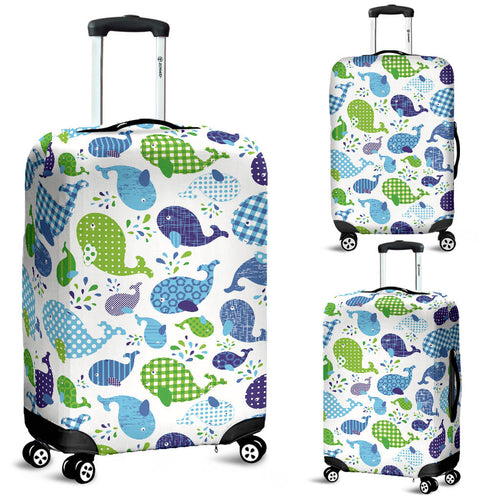 Whale Stripe Dot Pattern Luggage Covers