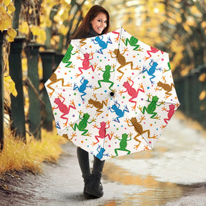 Colorful Frog Pattern Umbrella