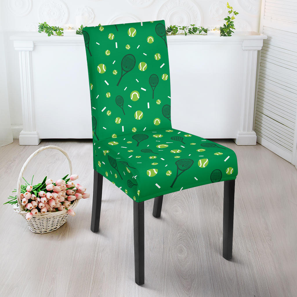 Tennis Pattern Print Design 03 Dining Chair Slipcover