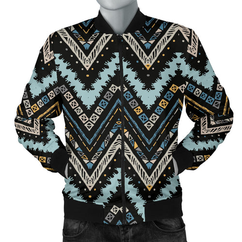 Zigzag Chevron African Afro Dashiki Adinkra Kente Men Bomber Jacket