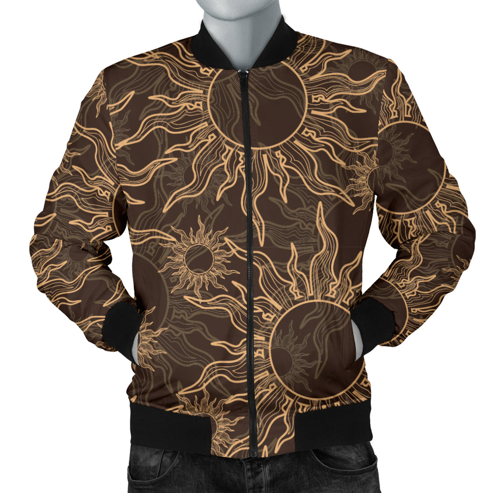 Sun Pattern Theme Men Bomber Jacket