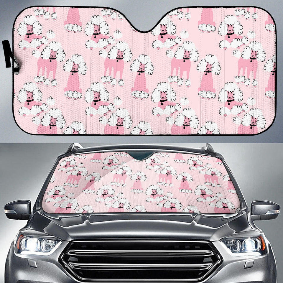 Poodle Pattern Car Sun Shade