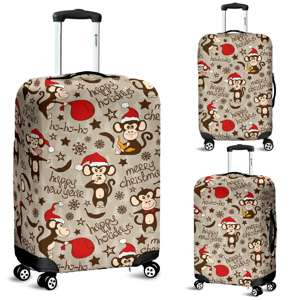 Monkey Christmas Pattern Luggage Covers