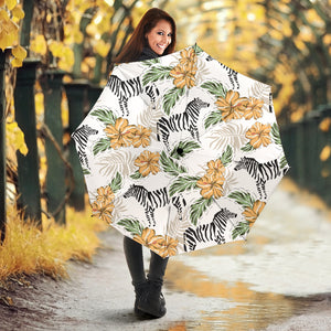 Zebra Hibiscus Pattern Umbrella
