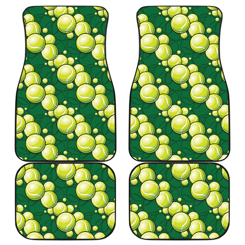 Tennis Pattern Print Design 04 Front and Back Car Mats