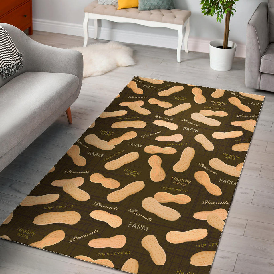 Peanut Pattern Green Background Area Rug