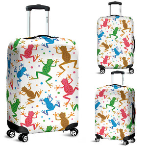 Colorful Frog Pattern Luggage Covers