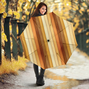 Wood Printed Pattern Print Design 01 Umbrella