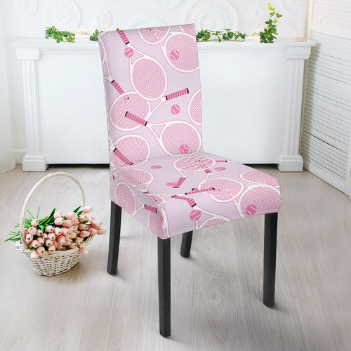 Tennis Pattern Print Design 02 Dining Chair Slipcover