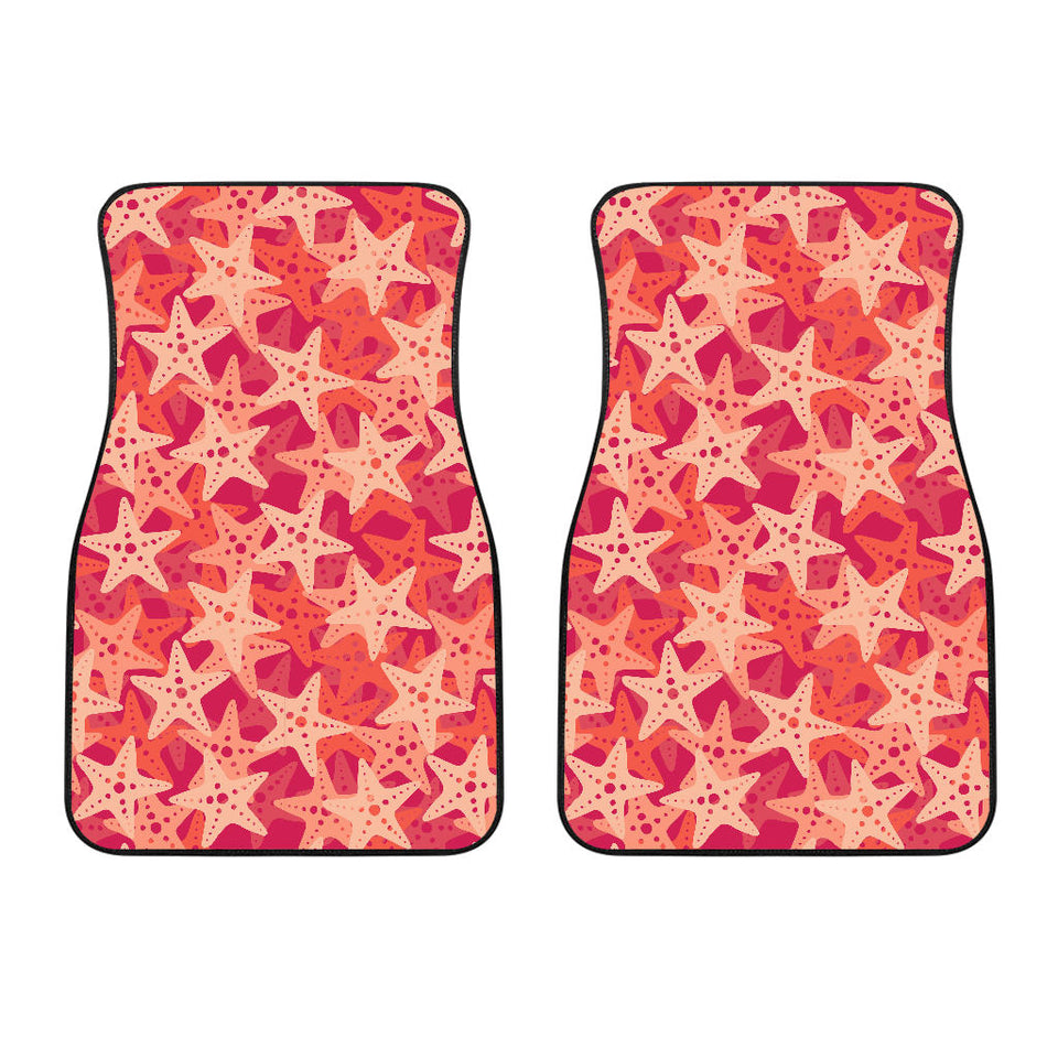 Starfish Red Theme Pattern Front Car Mats