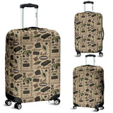 Cocoa Chocolate Pattern Luggage Covers