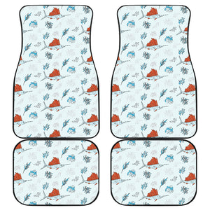Swordfish Pattern Print Design 03 Front and Back Car Mats