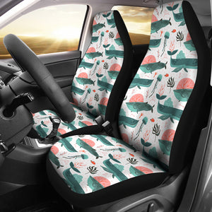 Whale Jelly Fish Pattern  Universal Fit Car Seat Covers