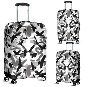 Crow Pattern Luggage Covers