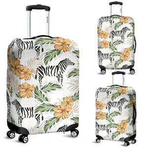 Zebra Hibiscus Pattern Luggage Covers