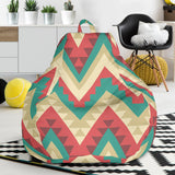 Zigzag Chevron Pattern Bean Bag Chair