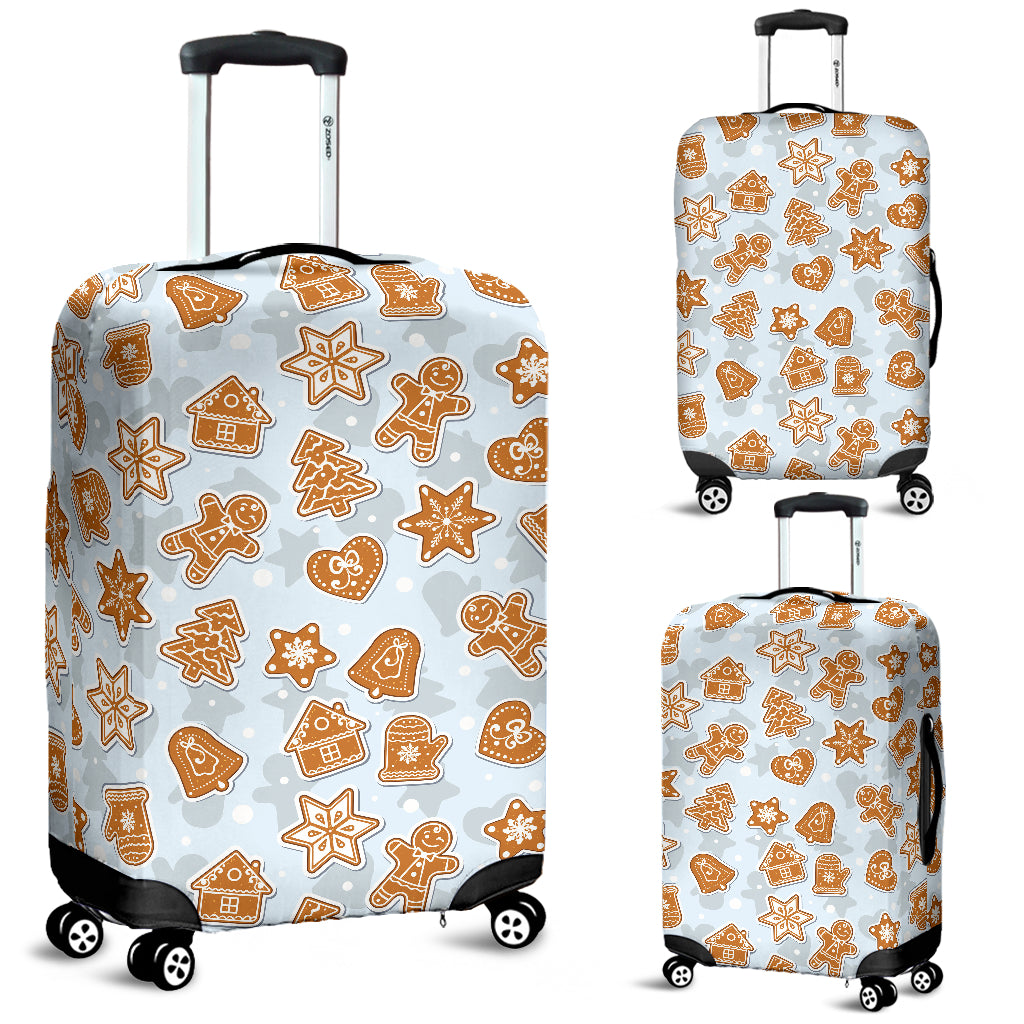 Christmas Gingerbread Cookie Pattern background Luggage Covers