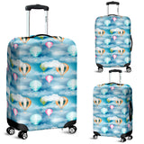 Hot Air Balloon in Night Sky Pattern Luggage Covers