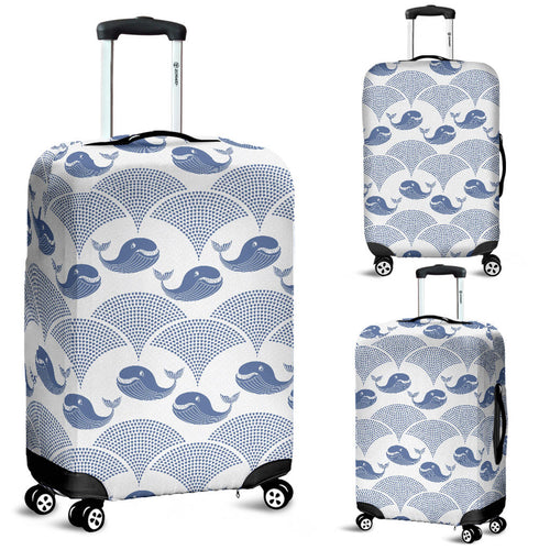Whale Pattern Luggage Covers