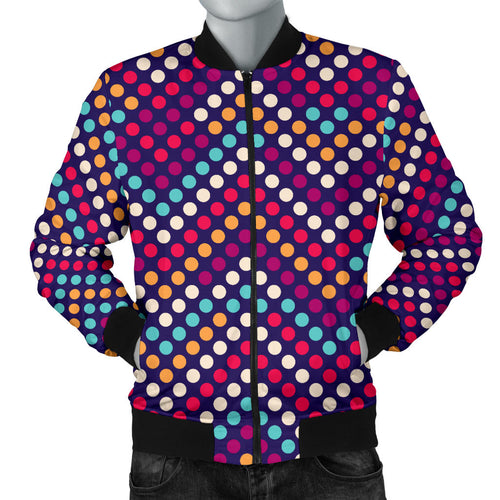 Zigzag Chevron Pokka Dot Aboriginal Pattern Men Bomber Jacket