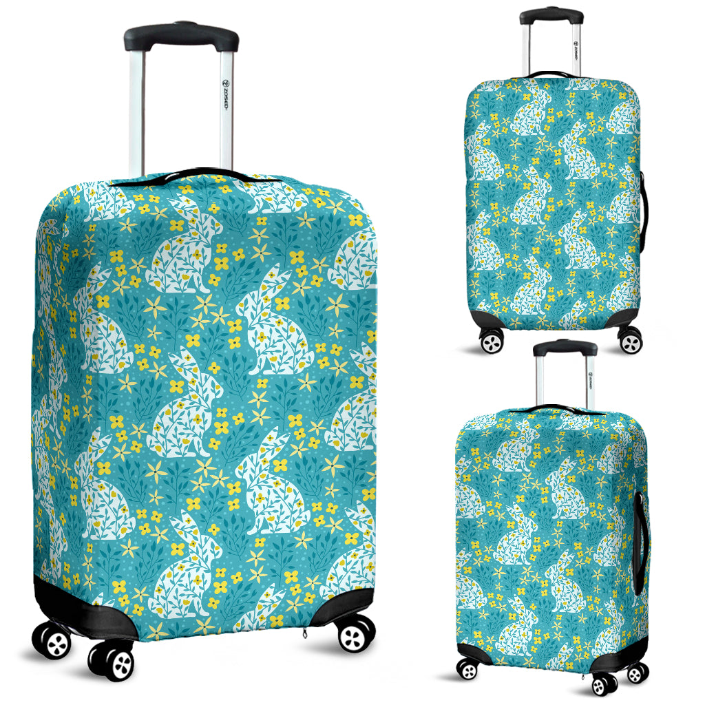 Rabbit Flower Theme Pattern Luggage Covers