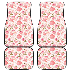 Tea pots Pattern Print Design 04 Front and Back Car Mats