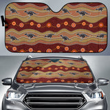 Kangaroo Aboriginal Pattern Car Sun Shade