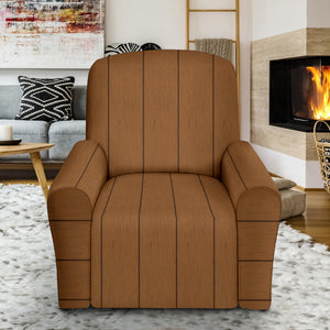 Wood Printed Pattern Print Design 03 Recliner Chair Slipcover