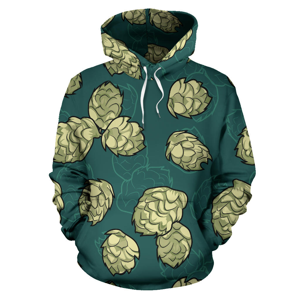Hop Pattern Background Pullover Hoodie