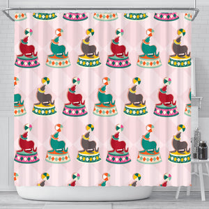 Colorful Sea Lion Pattern Shower Curtain Fulfilled In US