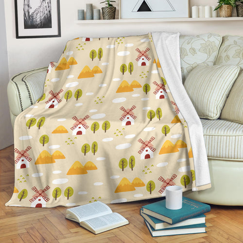 Windmill Pattern Premium Blanket