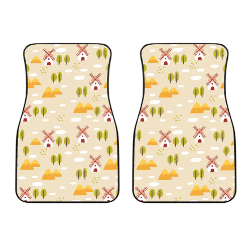 Windmill Pattern Front Car Mats