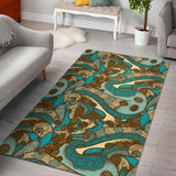 Coffee Bean Pattern Graphic Ornate Area Rug