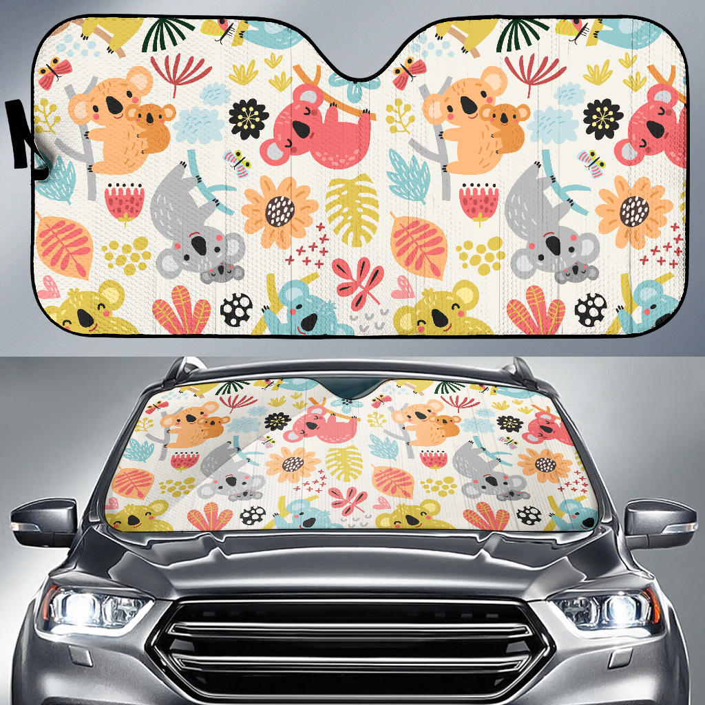 Cute Koala Pattern Car Sun Shade
