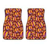 Coffee Bean Pattern Background Front Car Mats