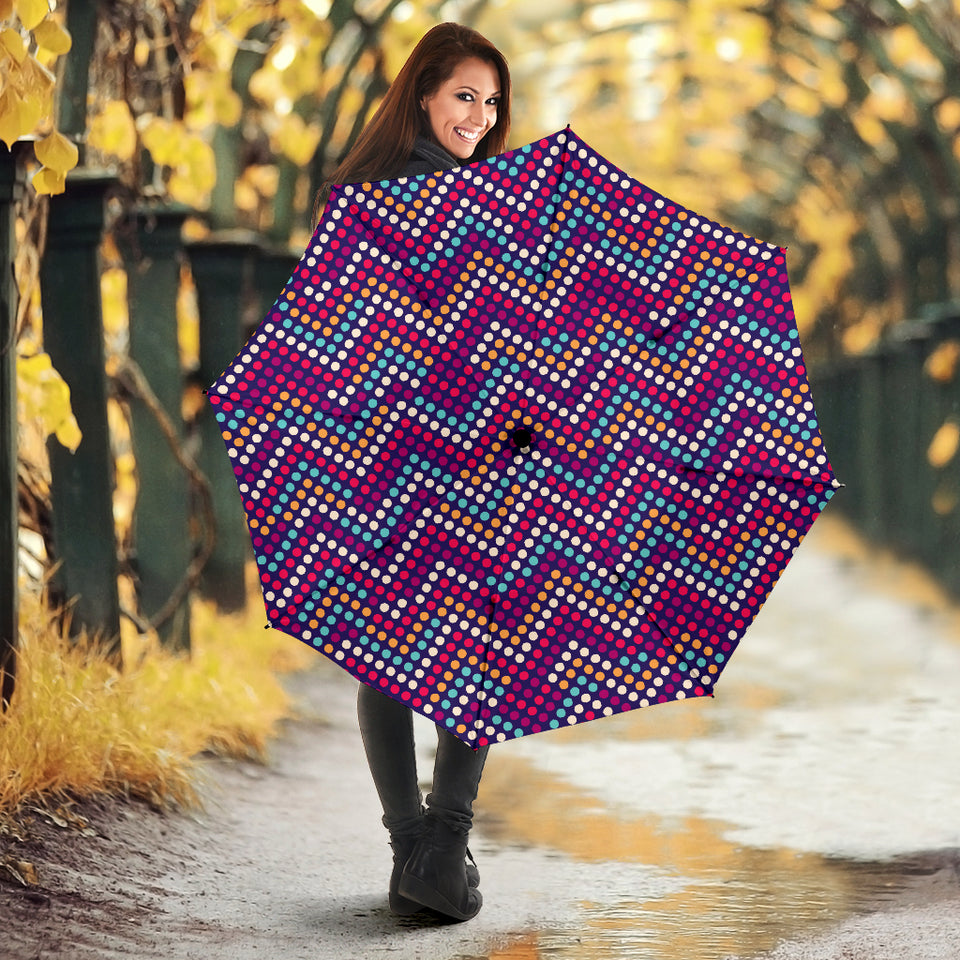 Zigzag Chevron Pokka Dot Aboriginal Pattern Umbrella