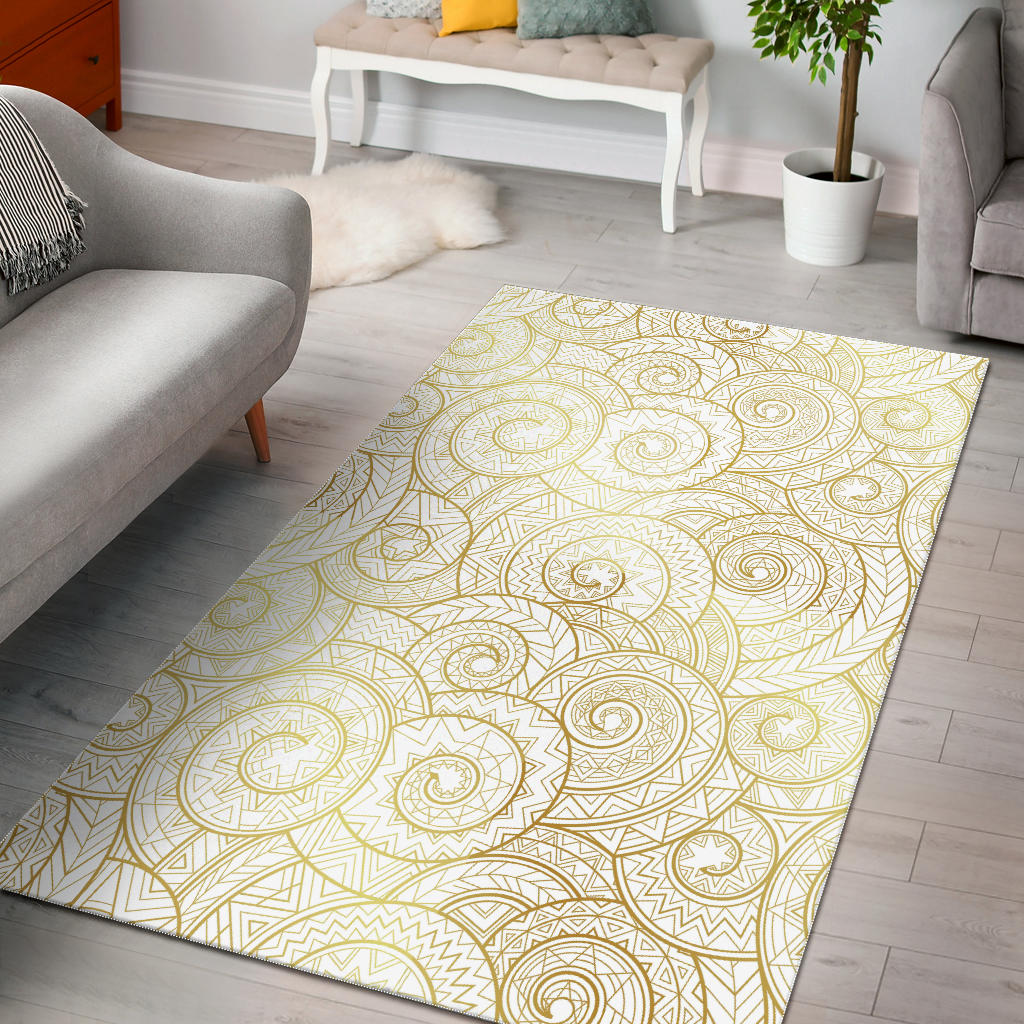 Shell Tribal Pattern Area Rug