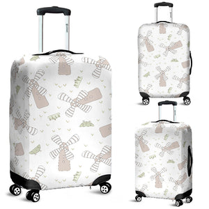 Windmill Pattern Background Luggage Covers